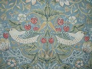 Sandersons William Morris Strawberry Thief Slate Curtain Fabric Sold