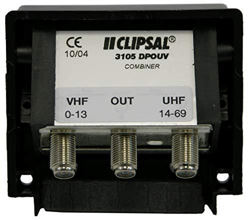 Weatherproof MATV Antenna Combiner/Joiner/Separator, Combines Full Band UHF/VHF Antennas