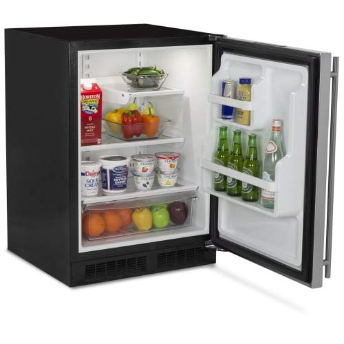 AGA Marvel ML24RAS2RS Refrigerator with MaxStore Crisper, Right Hinge Stainless Steel Door, 24-Inch