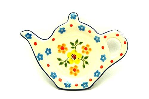 Polish Pottery Tea Bag Holder - Buttercup
