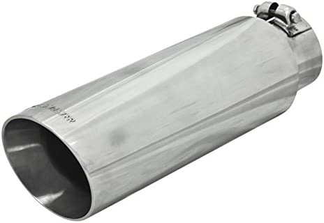Cut Angle Polished SS Fits 2.50 in 3.00 in Flowmaster 15362 Exhaust Tip T...
