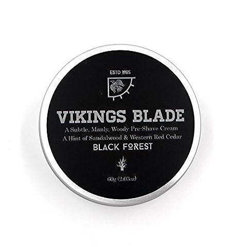VIKINGS BLADE 'Black Forest' Pre Shave Cream, Sandalwood & Western Red Cedar (Shave Viking)