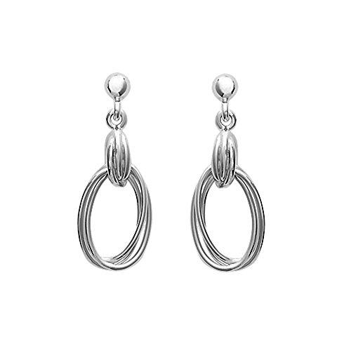 Tousmesbijoux Boucles d'oreilles anneaux entrelacés Argent 925/00