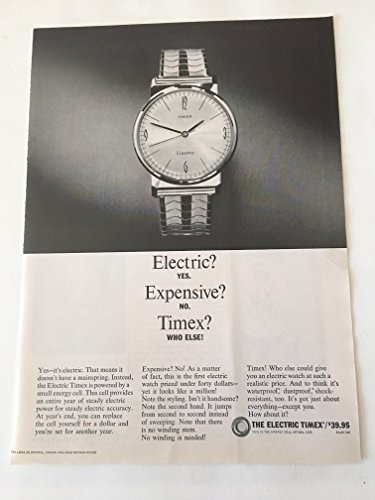 1966-electric-timex-watch-magazine-print-ad-lot-of-2