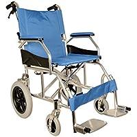 GiMa Aluminium Queen Rollstuhl, hellblau Sitz 46cm, Ultra Light Rollstuhl, nur 9,5kg