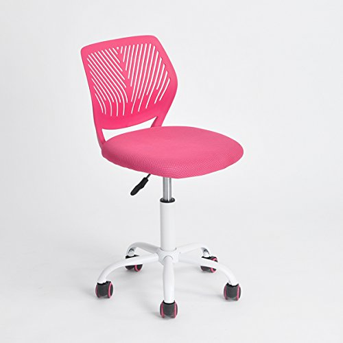 Pink Office Task Adjustable Desk Chair Mid Back Home Children Study ()