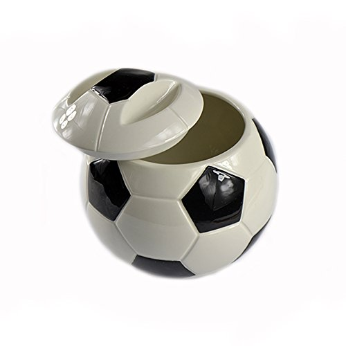 Ceramic Soccer Ball Cookie Jar