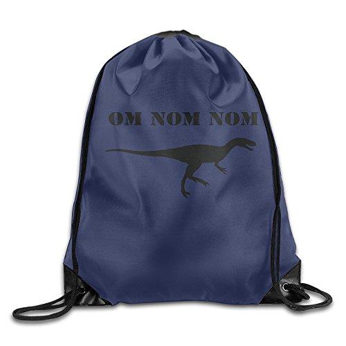 [SAXON13 Unisex Playful Om Nom Dinosaur Rawr Drawstring Backpack] (Book Week Character Costume Ideas)