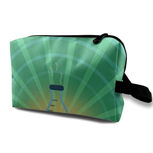 Chemistry Flask Lab Cosmetic Bags Makeup Organizer Bag Pouch Zipper Purse Handbag Clutch Bag -