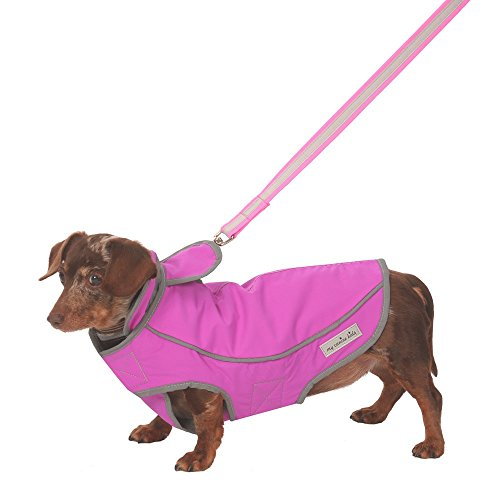 (My Canine Kids Precision Fit Sport Parka Best Dog Coat Waterproof Warm Winter Dog Jacket Reflective Vest Harness Hole (Small)