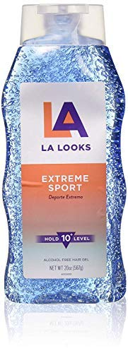 LA Looks Extreme Sport Alcohol-Free Hair Gel | Level 10 Hold, 20 oz | 1-Unit