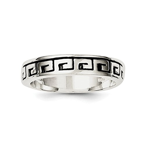 925 Sterling Silver Greek Key - ICE CARATS 925 Sterling Silver Greek Key Wedding Ring Band Size 6.00 Fine Jewelry Ideal Gifts For Women Gift Set From Heart