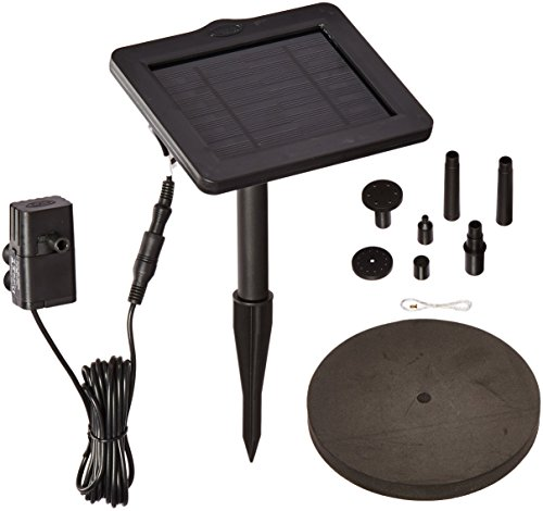 Smart Solar 21410R01 SunJet 150 Solar-Powered Water Pump and Solar Panel for Bird Baths and Other Small Water Features, Pumps 40 Gallons Per -