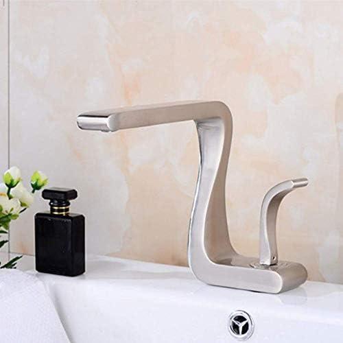 Küchenarmatur Waschtischarmaturen Nickel-Bürsten-Wannen-Mischer-Hahn-klassische Art-Einhand-Einlochmischer Deck montiert Badezimmer Messing Wasserkran xuwuhz