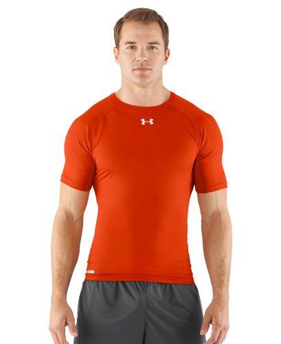 Under Armour Men's HeatGear® Sonic Compression Short Sleeve Extra Large Dark Orange