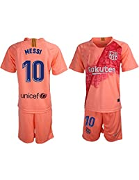 LCX New Barcelona Messi #10 Away Pink Kids/Youth Soccer Jersey 2018/2019
