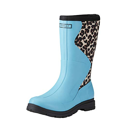 (ARIAT Women's Springfield Waterproof Rubber Boot Bright Aqua Size 9 B/Medium Us)