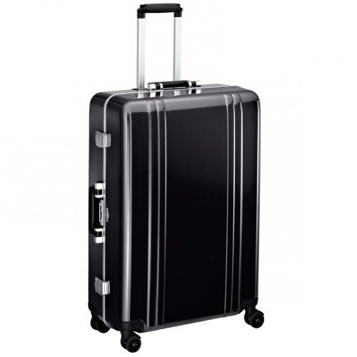 Zero Halliburton Classic Polycarbonate 28 Inch 4 Wheel Spinner Travel Case, Black, One Size