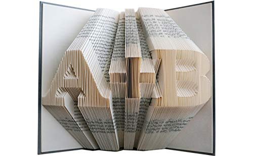Folded Book Art - Anniversary Gift - 1st Wedding Anniversary -Gift for Him - Gift for Her - Wedding Present - Personalized Gift (Best First Wedding Anniversary Gifts)