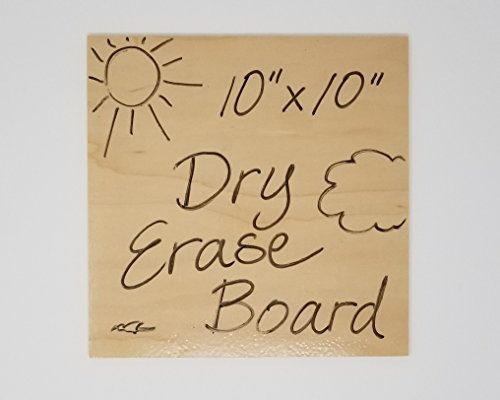 "WOODEN 10"" Square Dry Erase Board - Includes FREE Marker - Made in America"