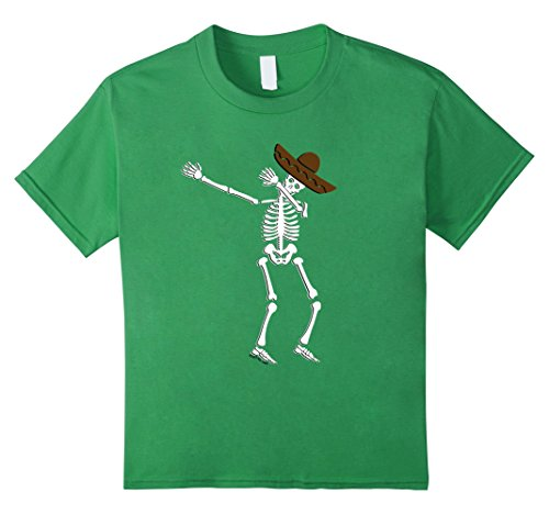 [Kids Dabbing Skeleton Cinco de Mayo T Shirt Kids Adult Costume 12 Grass] (Guy Dance Costumes)