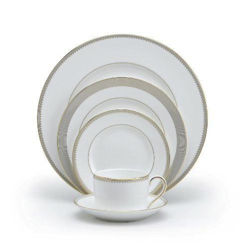 Vera Wang Wedgwood Golden Grosgrain Five-Piece Place Setting