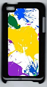 Paint Splatter Colorful Polycarbonate Hard Case Cover for iPod 4/ iPod 4th ¨CBlack
