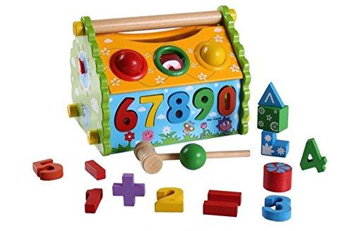 Yingealy 知的発達 可愛い木の形 ソーター 幾何学的ソートハウス 知育形状 色認識玩具 子供用   B07GXK4MXN