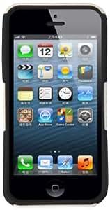 DECORO HCIP5BWM Mesh Hybrid Case for iPhone 5 - 1 Pack - Retail Packaging - White/Black
