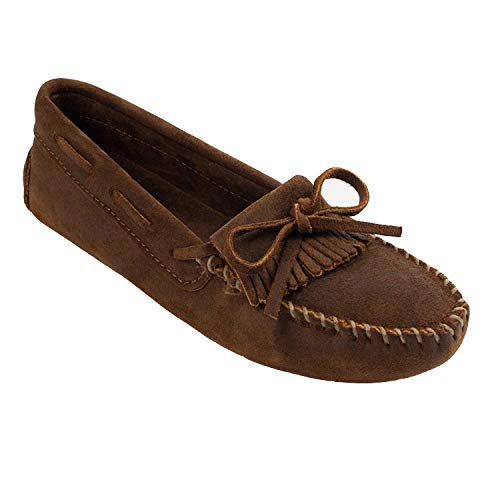 Minnetonka Women's Kilty Driving Moccasin,Brown Ruff,7.5 M US