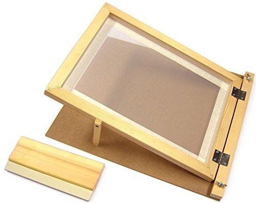 Major Brushes A3-Siebdruck-Starter-Set, aus Holz, mit Scharnieren, Rakel