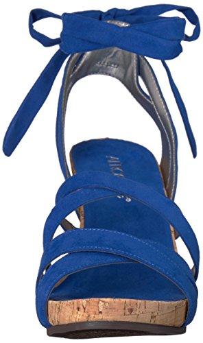 Women's Blue Sandal Lilac Fabric Plush Aerosoles Wedge dXdHn