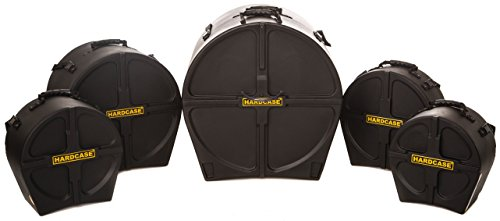 Impact Drum Cases (HARDCASE HSTANDARD Drum Case Set for 'Standard' Kits, 5 Pieces)