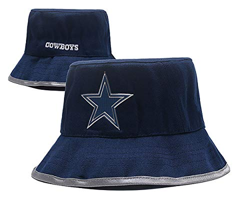 NFL Team Pattern Fashion Bucket Hat Fisherman Cap hat (Dallas Cowboys) -