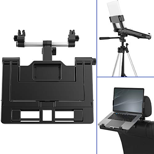 Car Headrest Mount, Adjustable Car Laptop Tablet Mount Holder 9-16 Notebook Stand Holder Foldable Laptop Mount Holder for Car Truck Van Compatible with Most 9-16 Tablets and Laptops, EURPMASK