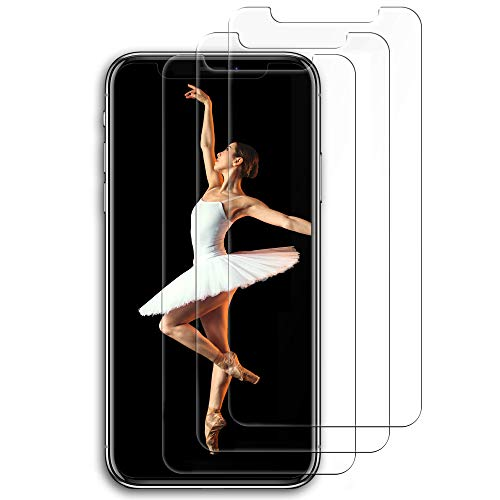 Aslanda iPhone XS Max Screen Protector( 3 pack, Clear ) iPhone XS Max Tempered Glass Screen Protector. 9H hardness Supporting 3D Touch Best Glass for Your best iPhone