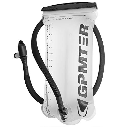 GPMTER Hydration Bladder Leakproof Water Reservoir for Outdoor Cycling Hiking Camping Backpack. 2L 70oz, BPA Free No Plastic Taste,Non Toxic,Easy Clean Large Opening