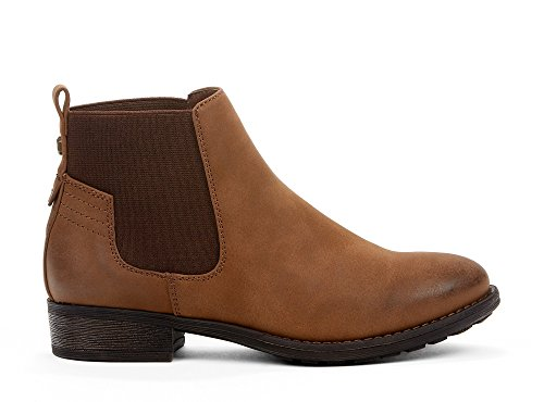 amp; Ankle Memory Synthetic Fashion amp; amp; Cognac Dylan for Chelsea Trendy Fall Block Comfy Spring Heel High Comfortable Yellow Perfect from Foam Booties Made amp; Women Leather Shoes Casual Low Boots aqvfFS