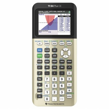 TEXAS INSTRUMENTS TI-84 PLUS CE DUMMIES INCLUDED GOLD (Texas Instruments Calculator Ti 84 Plus Silver Edition)