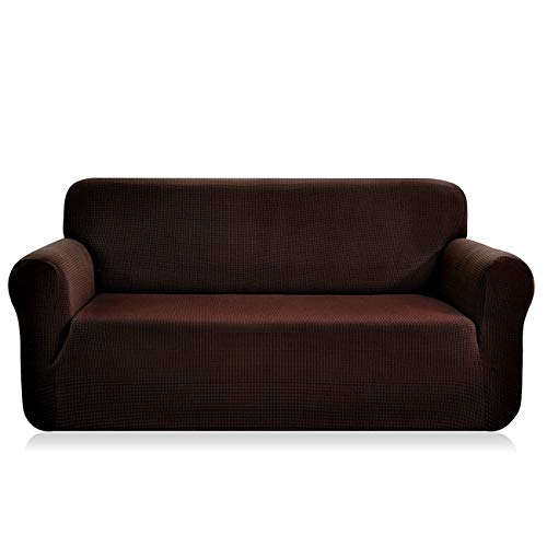 Sofía Casa Jacquard Stretch Sofa Slipcover, Couch Covers for 3 Cushion Couch, Slipcover for Leather Couch,Furniture Protector, Dogs,57