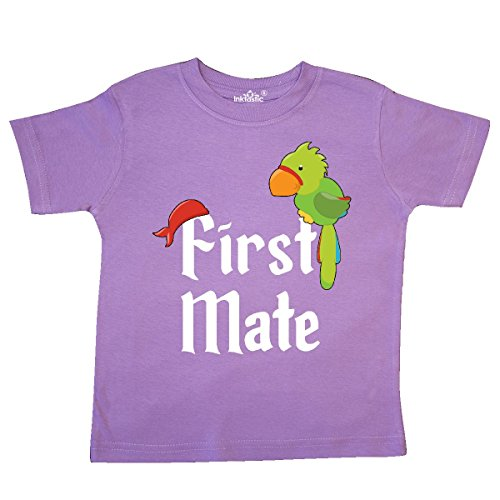 inktastic - First Mate Pirate with Parrot and Toddler T-Shirt 5/6 Lavender 2c4bf ()