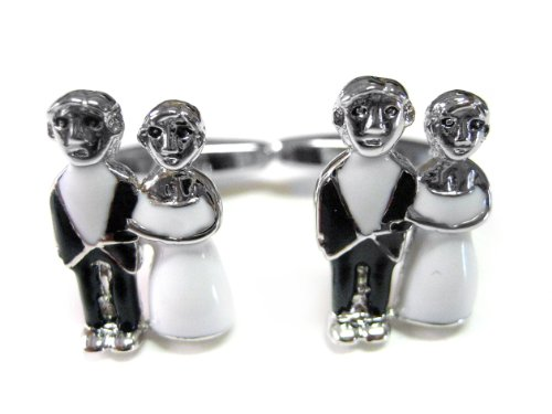 Wedding Couple Cufflinks by Kiola Designs