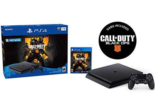 Playstation 4 1TB Call of Duty Black Ops 4 PS4 Slim Bundle: Call of Duty Black Ops 4 Full Game and Playstation 4 Slim 1TB HDR Gaming Console with Dualshock 4 Wireless Controller – Jet Black