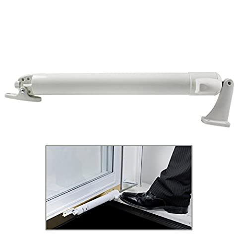 Premium EZ Glide Tap N Touch Door Closer Pneumatic Storm Screen Doors Smooth, White
