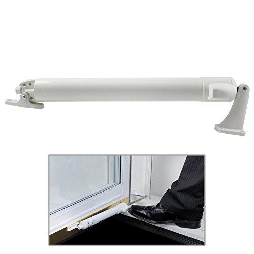 Premium EZ Glide Tap N Touch Door Closer Pneumatic Storm Screen Doors Smooth, White