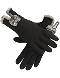 Womens Gloves Winter Thick Warm Lined Windproof Touch Screen Gloves