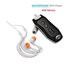Y&M(TM) Waterproof Mp3 Player,100% IPX8 Portable 8GB Underwater GYM Clip Waterproof MP3 Music Player With FM Radio For Sports Swimming Diving Wading Raining Cycling Surfing (Black)