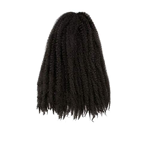 Crochet Braids Hair Ombre Afro Kinki Soft Synthetic Marley Braiding Hair Crochet Hair Extensions Bulk,#4,18 inch,4Pcs