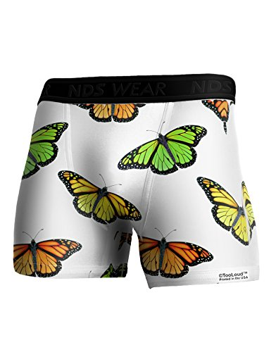 TooLoud Monarch Butterflies AOP Boxer Brief Dual Sided 2XL All Over (Butterfly Print Boxers)