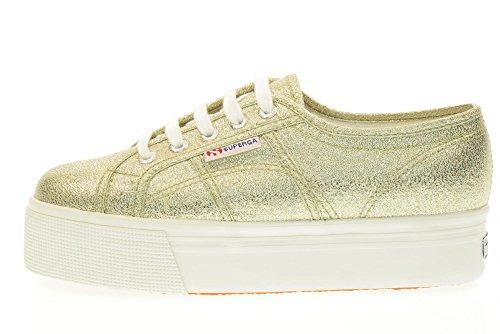 SUPERGA scarpe donna sneakers basse piattaforma S009TC0 340 2790 LAMEW taglia 36 Platino